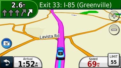 Garmin nuvi 1450 lane assist