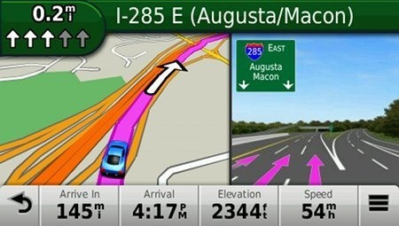 Garmin nuvi 2555LMT jct view lane assist