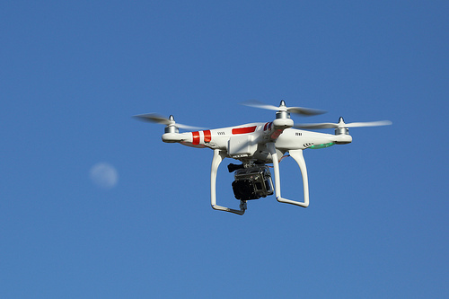 GPS drone (UAS) with GoPro camera
